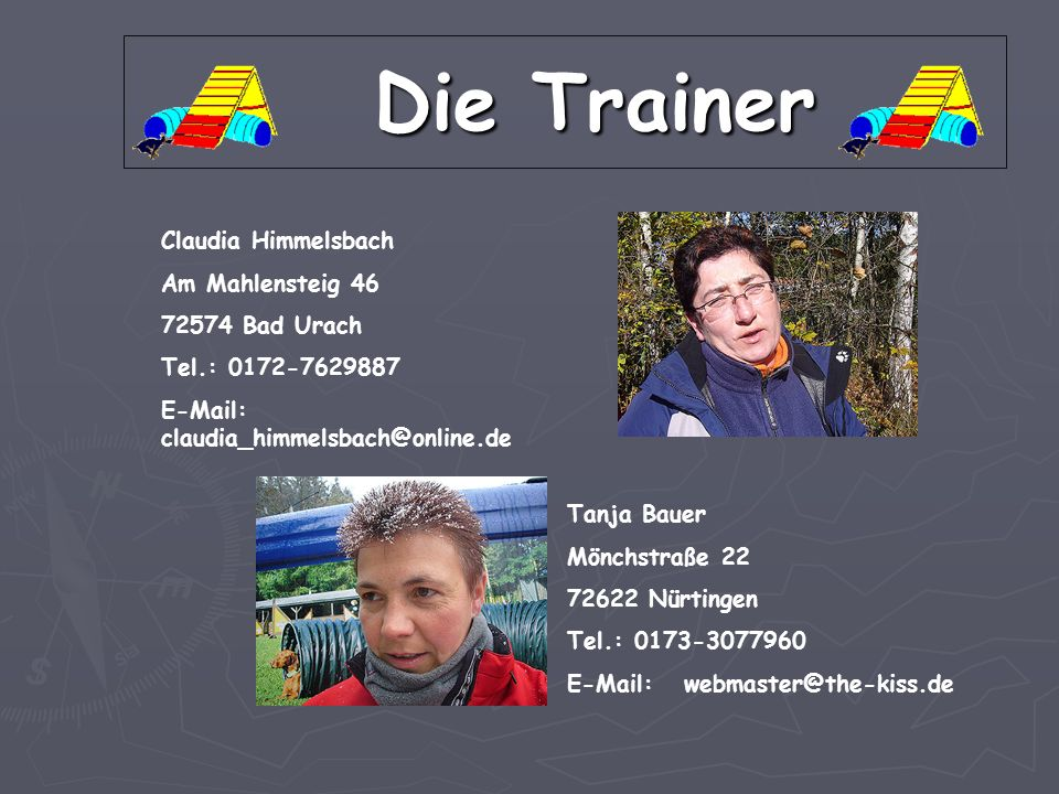 Die Trainer Claudia Himmelsbach Am Mahlensteig 46 72574 Bad Urach