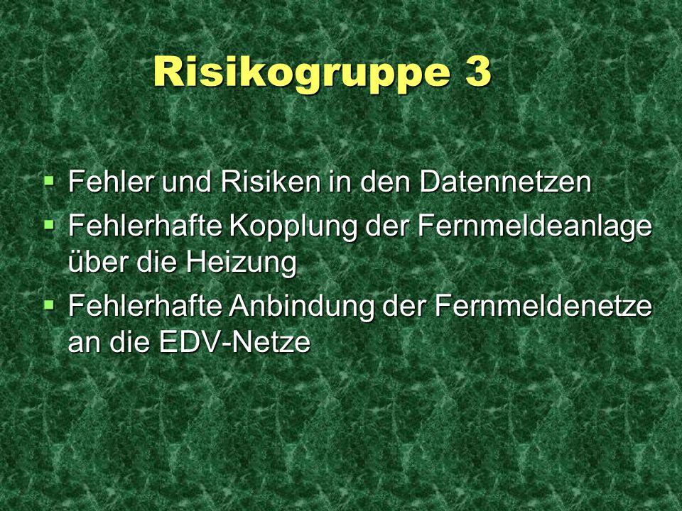 Risikogruppe 3 Fehler und Risiken in den Datennetzen