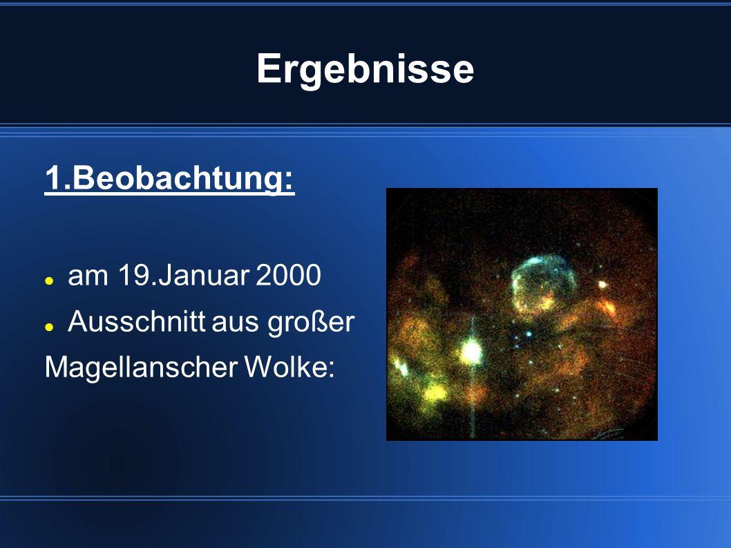 Ergebnisse 1.Beobachtung: am 19.Januar 2000 Ausschnitt aus großer