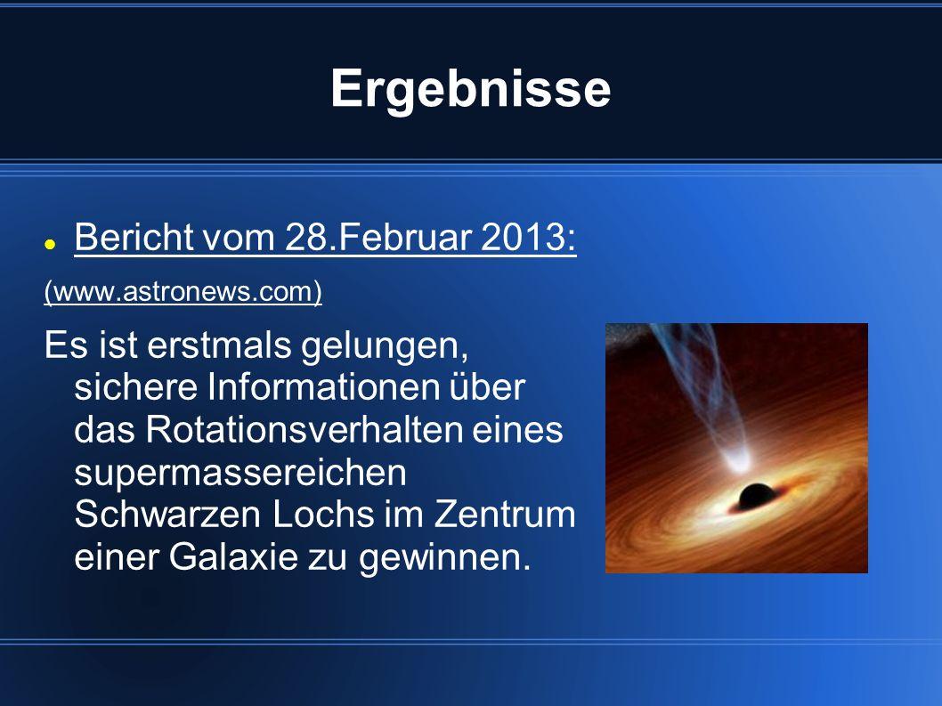 Ergebnisse Bericht vom 28.Februar 2013:
