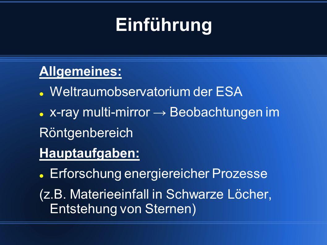 Einführung Allgemeines: Weltraumobservatorium der ESA
