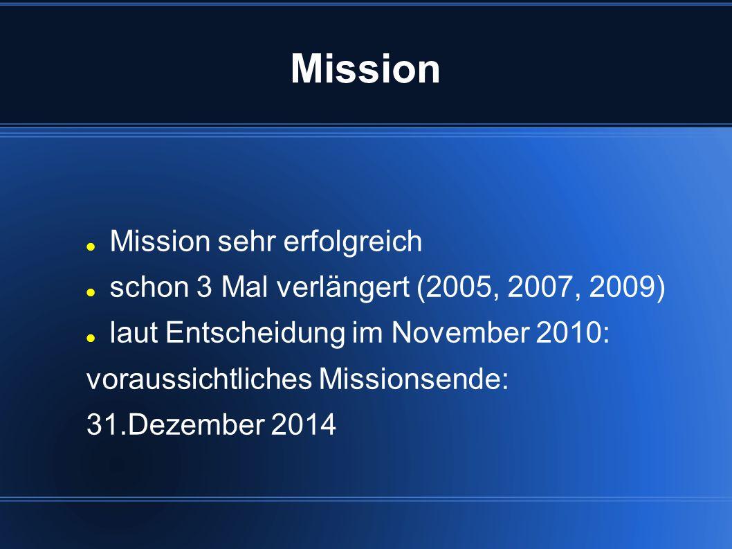 Mission Mission sehr erfolgreich