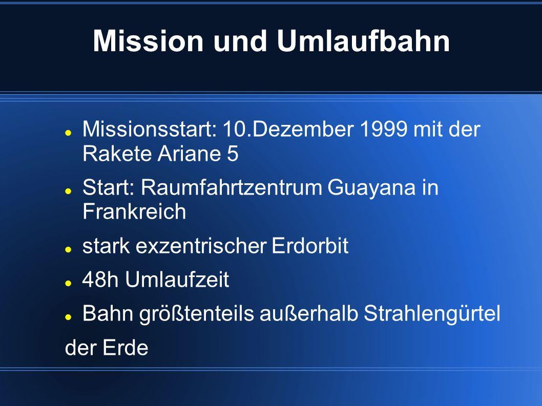 Mission und Umlaufbahn