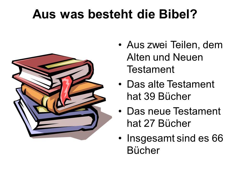 Aus was besteht die Bibel
