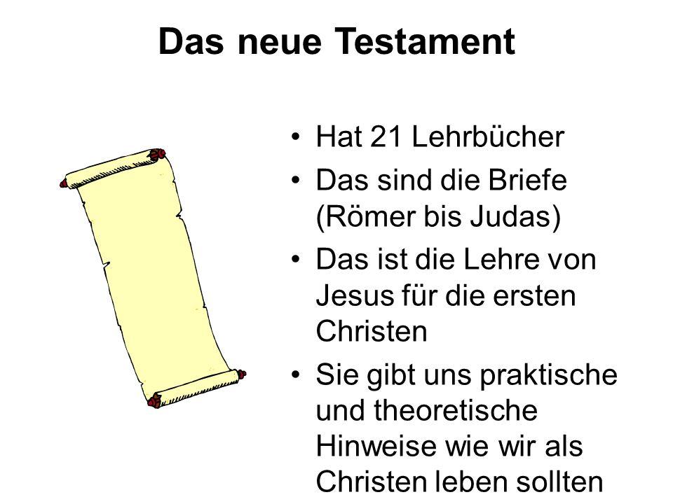 Das neue Testament Hat 21 Lehrbücher