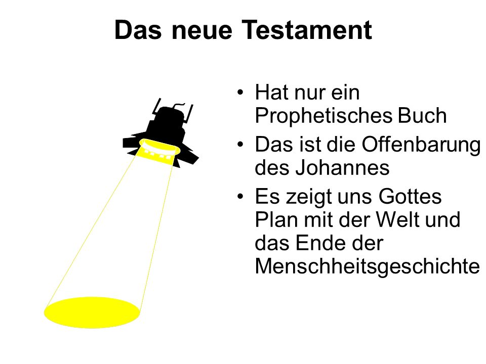 Das neue Testament Hat nur ein Prophetisches Buch