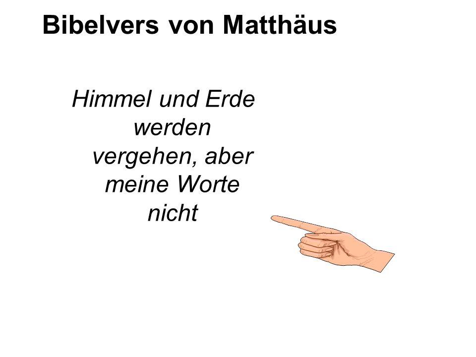 Bibelvers von Matthäus