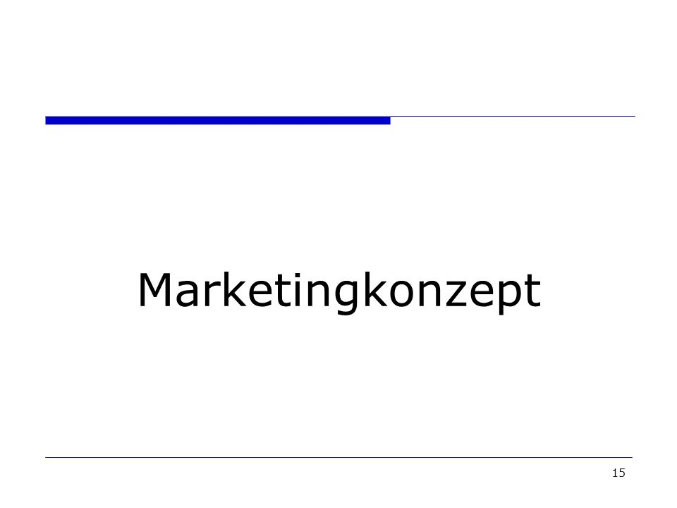 Marketingkonzept