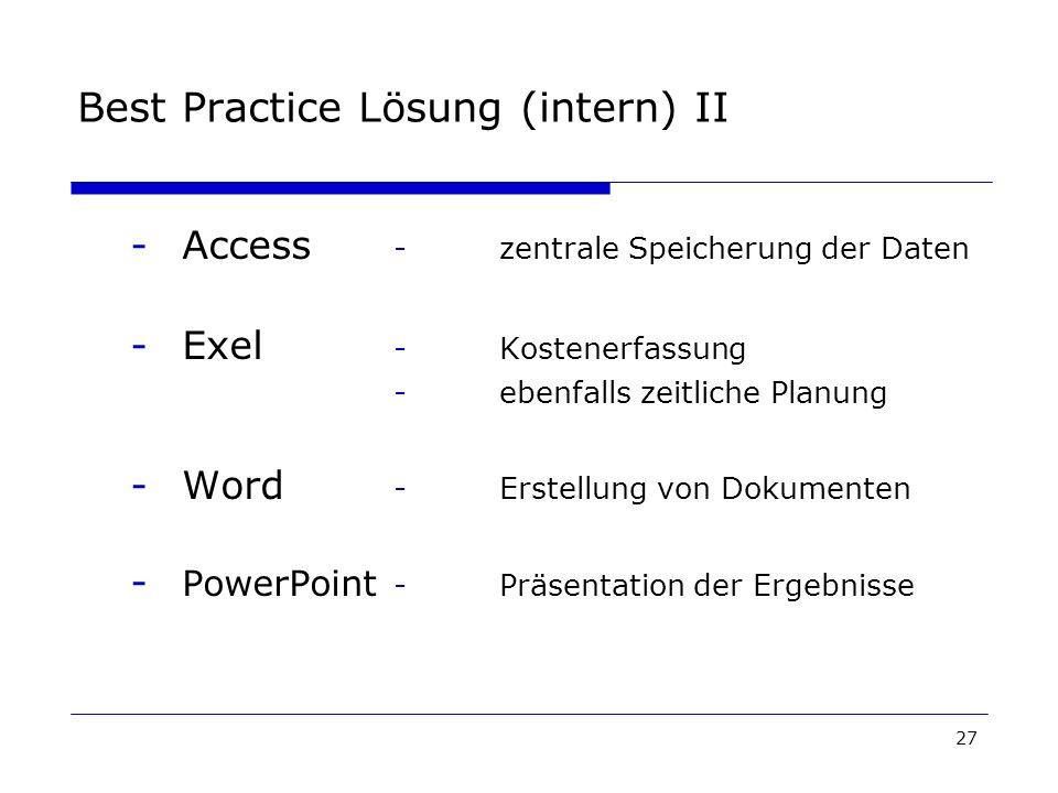 Best Practice Lösung (intern) II