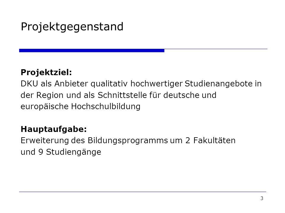 Projektgegenstand Projektziel: