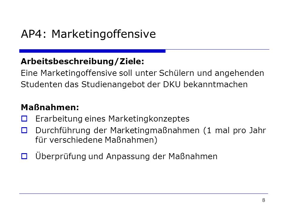AP4: Marketingoffensive
