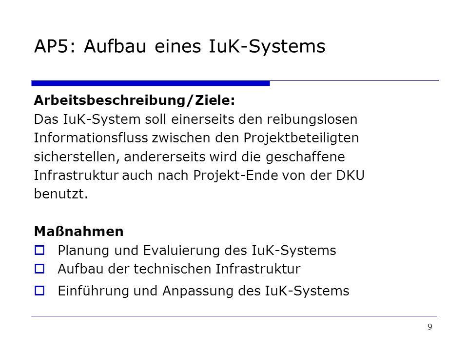 AP5: Aufbau eines IuK-Systems