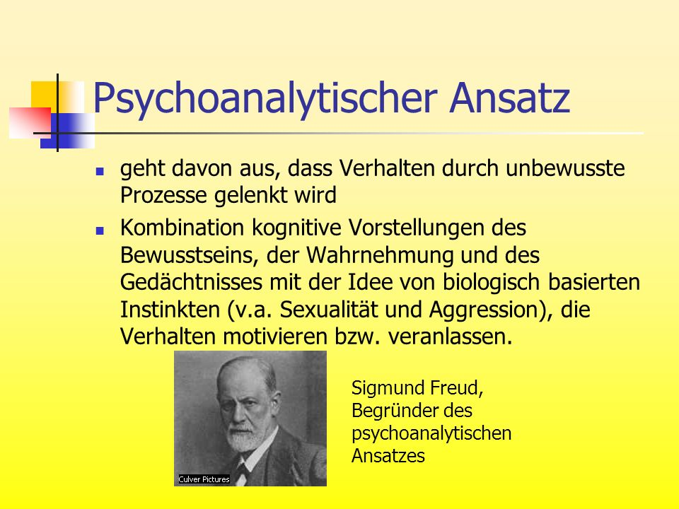 Psychoanalytischer Ansatz