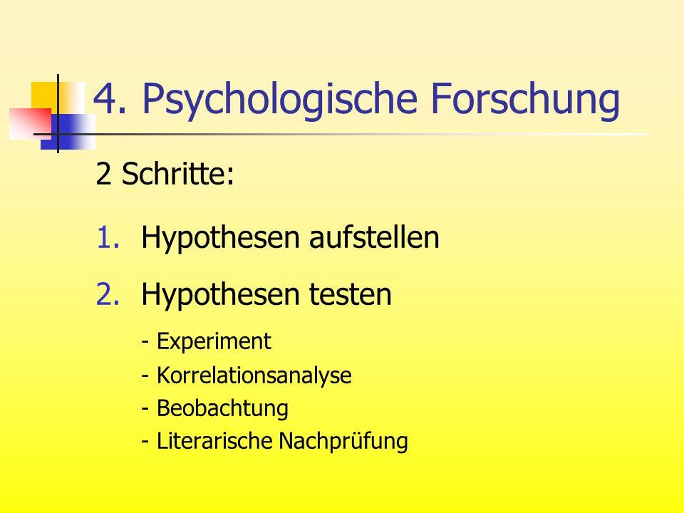 4. Psychologische Forschung