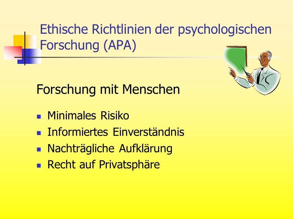 Ethische Richtlinien der psychologischen Forschung (APA)