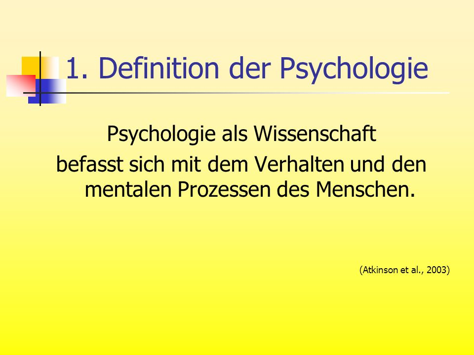 1. Definition der Psychologie