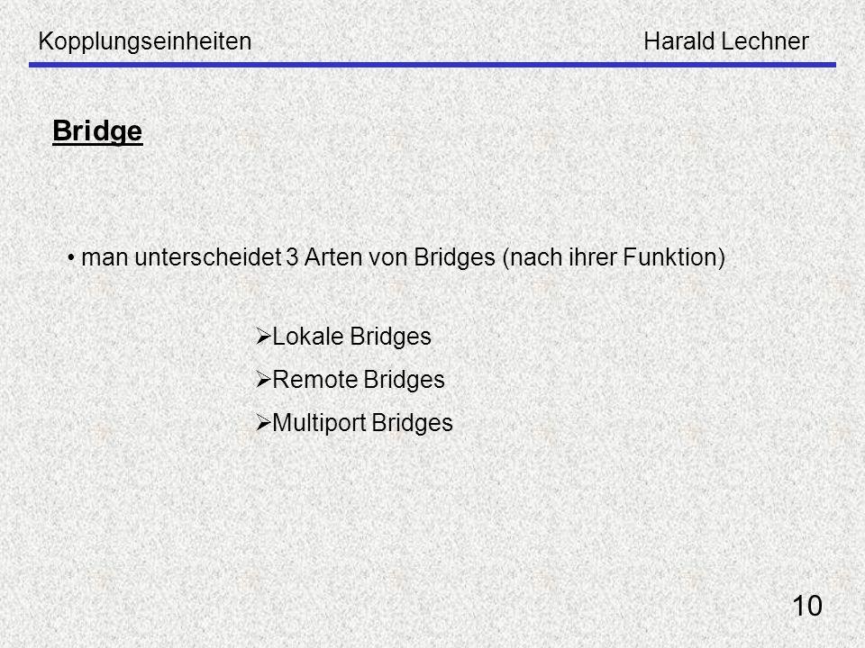 Bridge 10 Kopplungseinheiten Harald Lechner