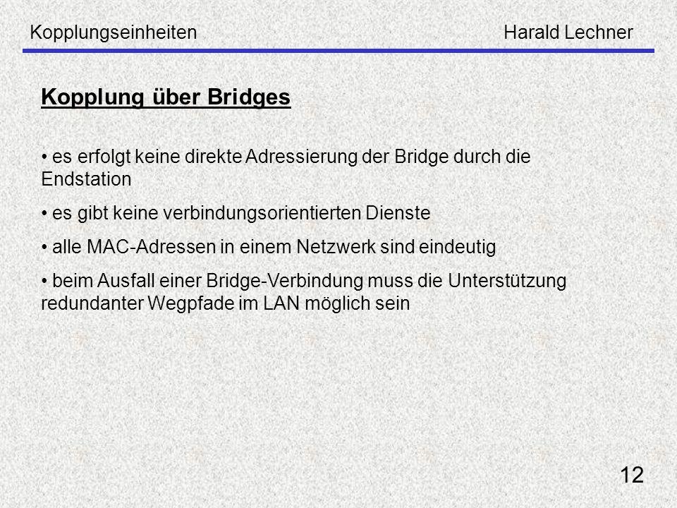 Kopplung über Bridges 12 Kopplungseinheiten Harald Lechner