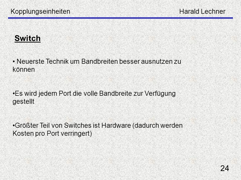 Switch 24 Kopplungseinheiten Harald Lechner