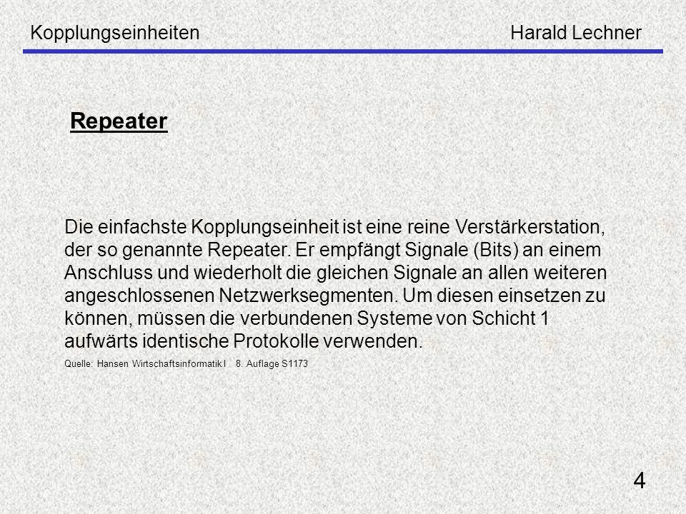 Repeater 4 Kopplungseinheiten Harald Lechner