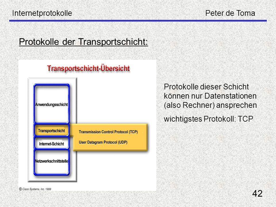 Protokolle der Transportschicht: