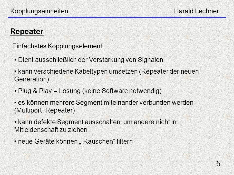 Repeater 5 Kopplungseinheiten Harald Lechner
