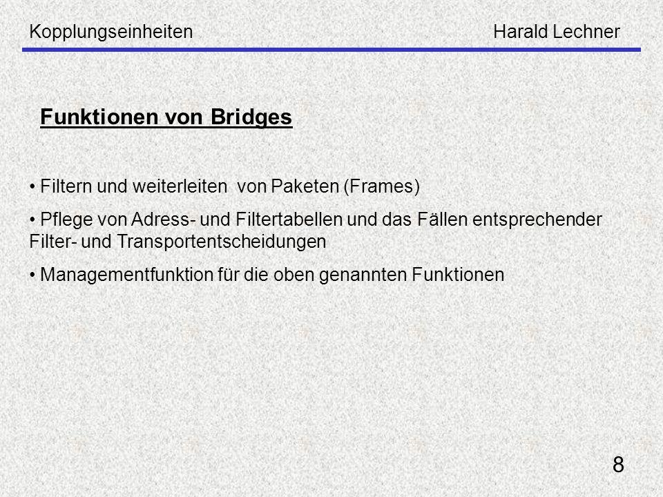 Funktionen von Bridges