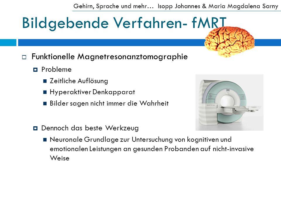 Bildgebende Verfahren- fMRT