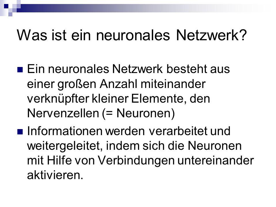 Was ist ein neuronales Netzwerk