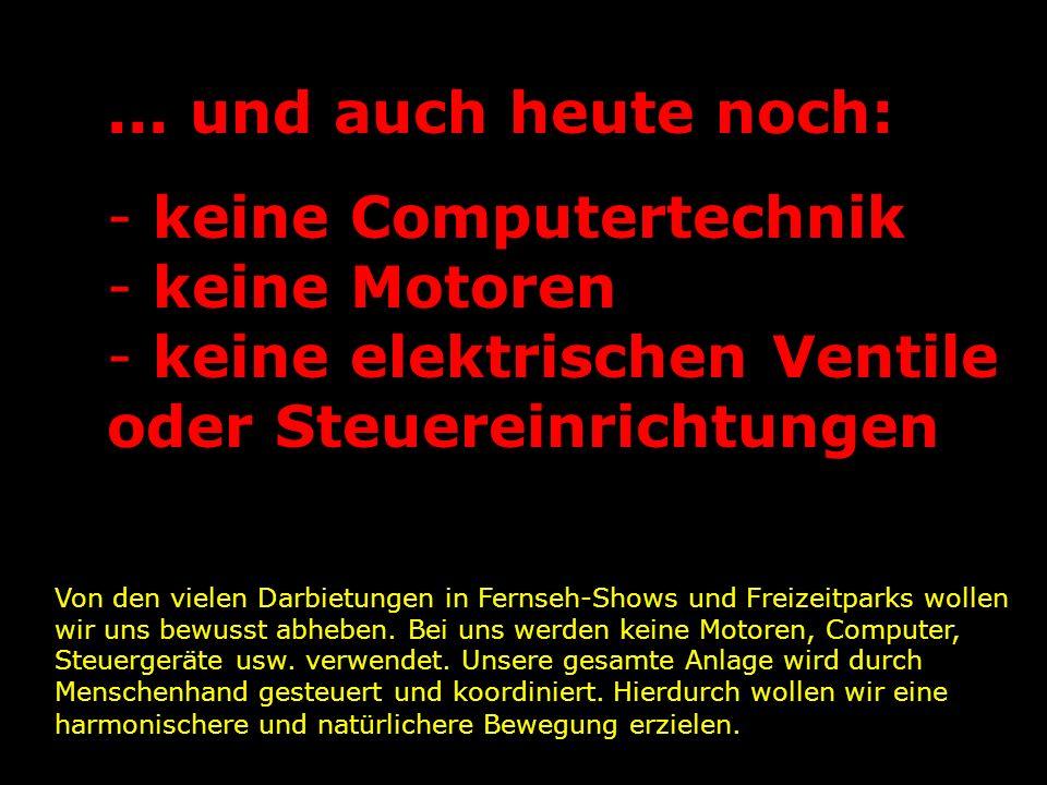 keine Computertechnik keine Motoren