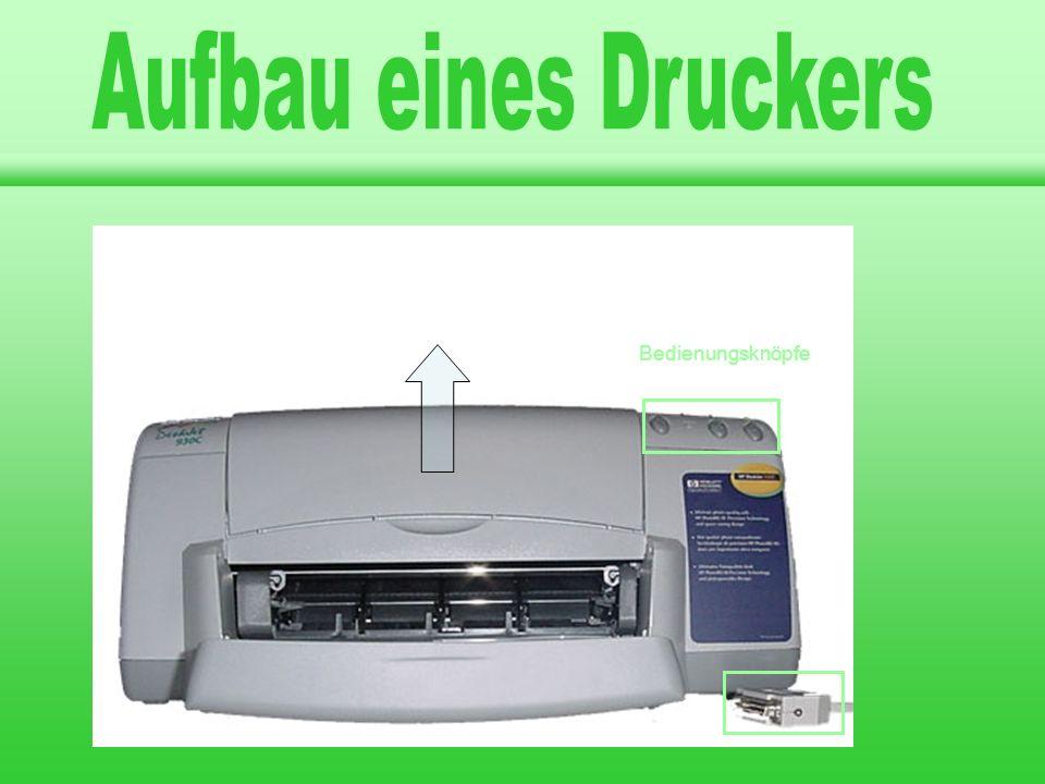Aufbau eines Druckers Drucker A A A llgemeines llgemeines