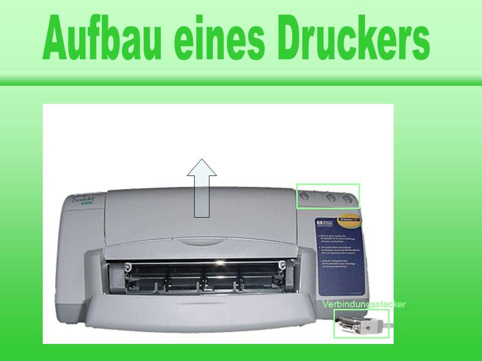 Aufbau eines Druckers Aufbau eines Druckers Drucker Drucker A A A A A
