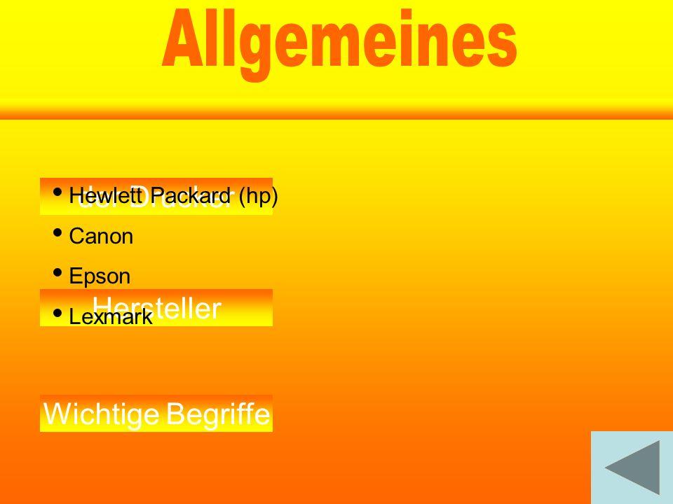 Allgemeines Drucker A A A der Drucker llgemeines Hersteller