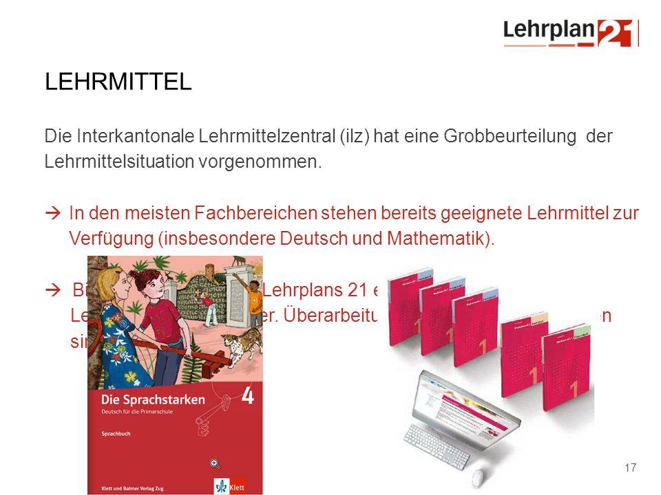 Lehrmittel Die Interkantonale Lehrmittelzentral (ilz) hat eine Grobbeurteilung der Lehrmittelsituation vorgenommen.