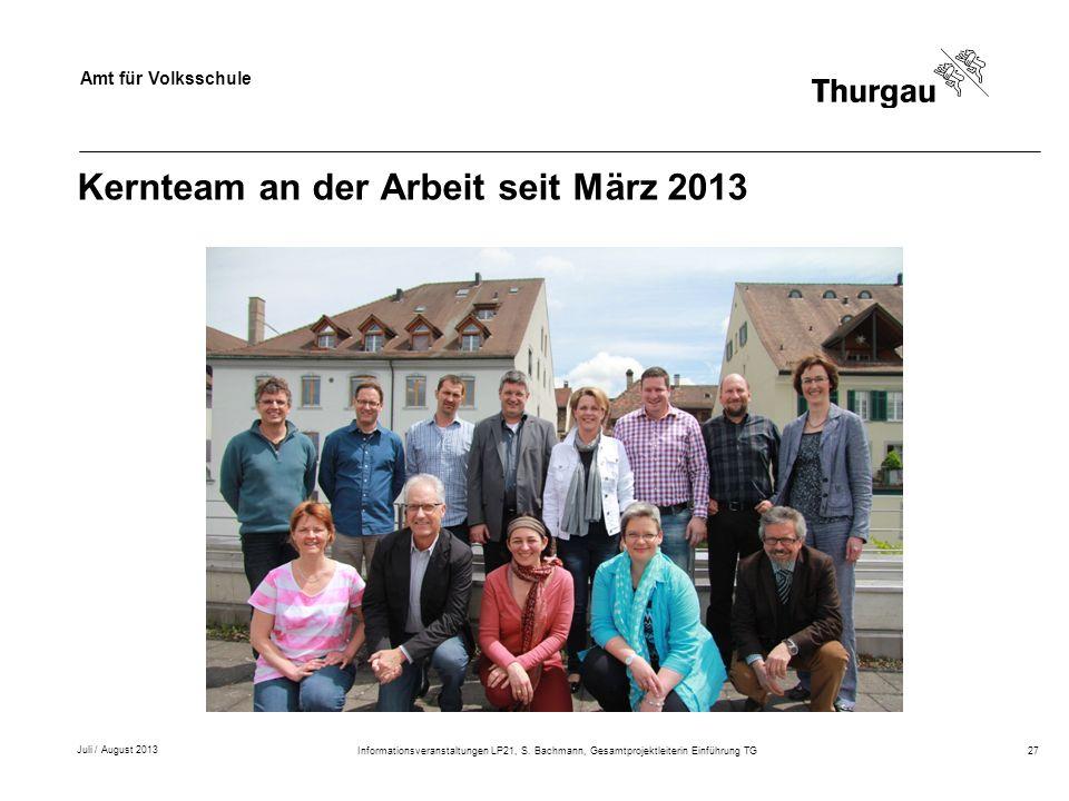 Kernteam an der Arbeit seit März 2013