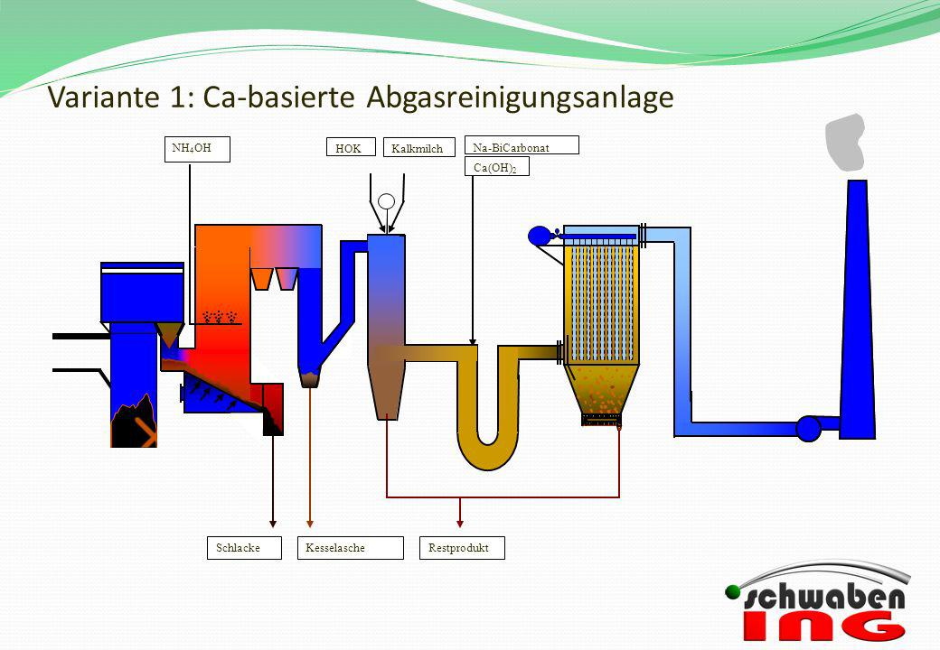 Variante 1: Ca-basierte Abgasreinigungsanlage