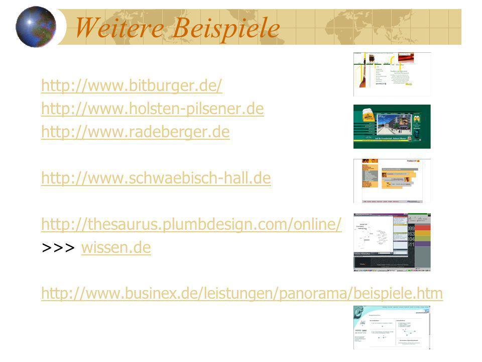 Weitere Beispiele http://www.bitburger.de/