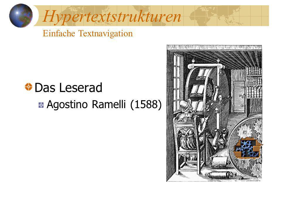 Hypertextstrukturen Das Leserad Agostino Ramelli (1588)