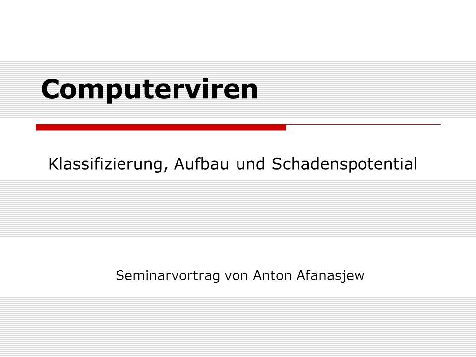 Seminarvortrag von Anton Afanasjew