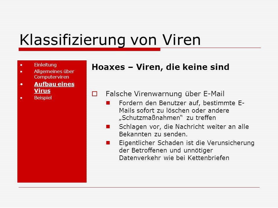 Klassifizierung von Viren
