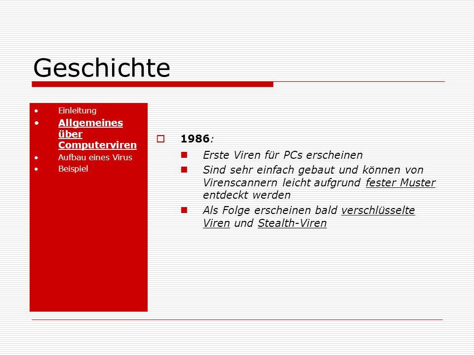 Geschichte 1986: Erste Viren für PCs erscheinen
