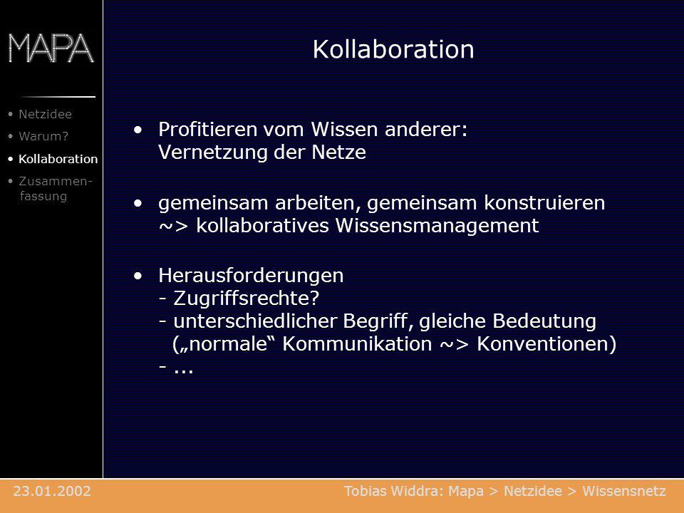 Kollaboration Profitieren vom Wissen anderer: Vernetzung der Netze