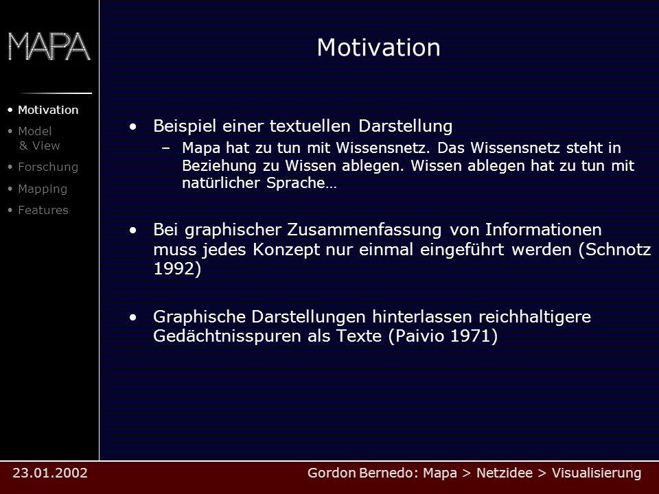 Motivation Beispiel einer textuellen Darstellung