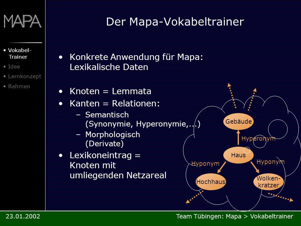 Der Mapa-Vokabeltrainer