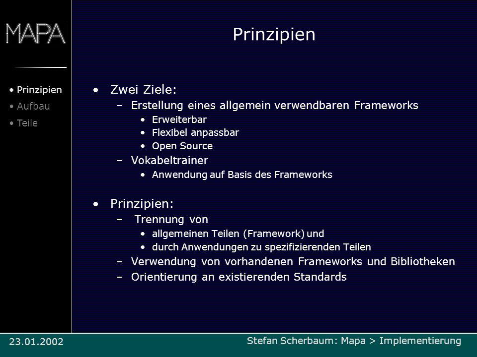 Prinzipien Zwei Ziele: Prinzipien: