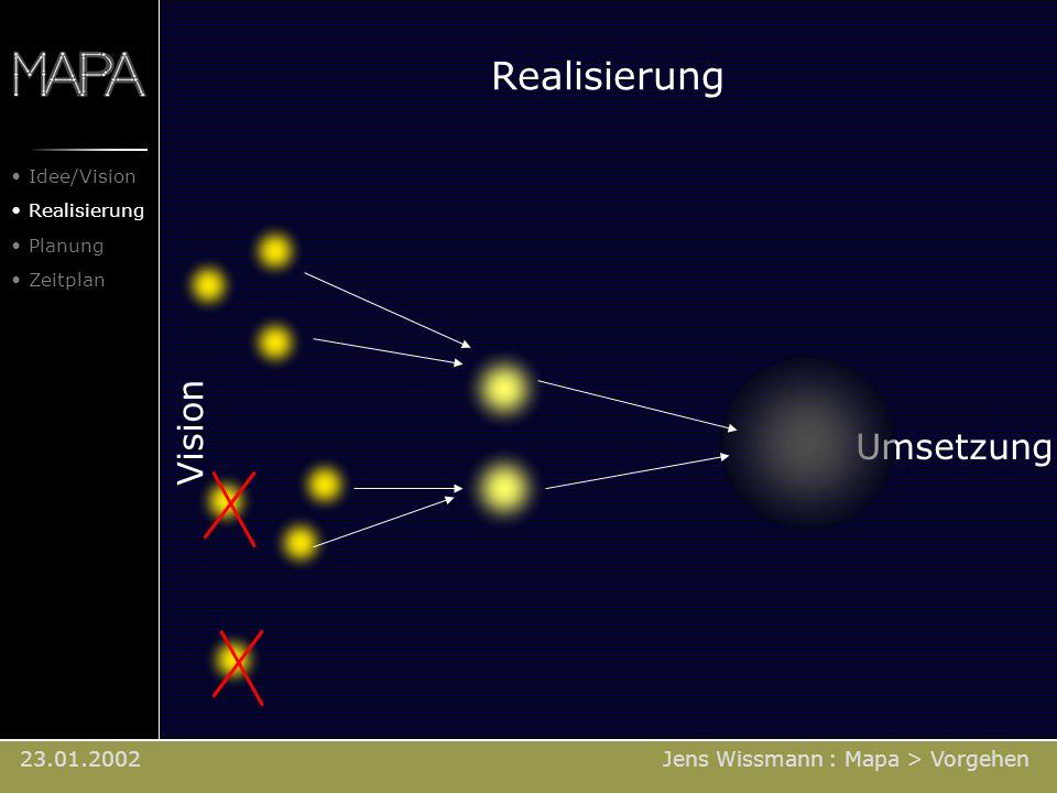 Realisierung Vision Umsetzung 23.01.2002