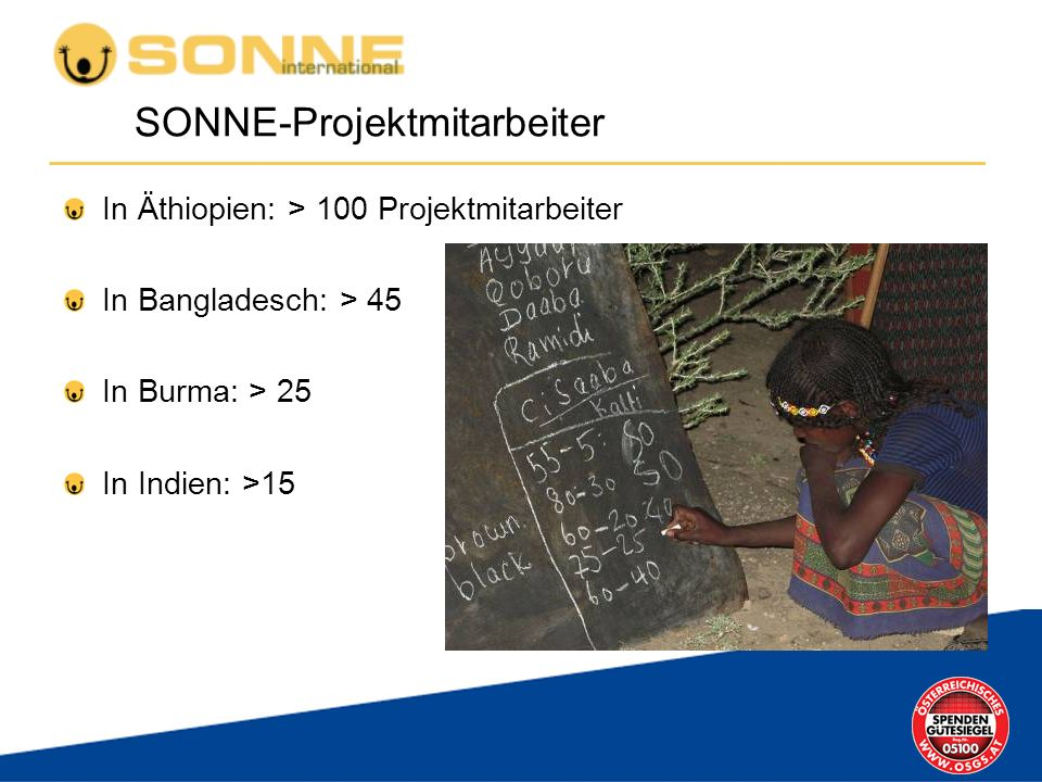 SONNE-Projektmitarbeiter