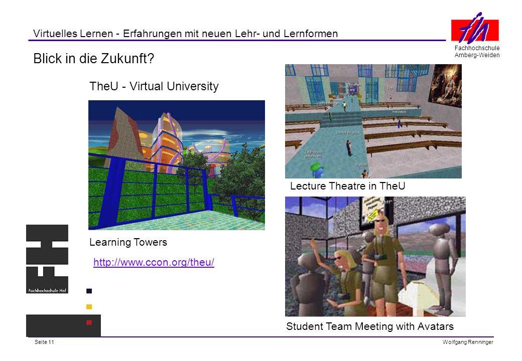 Blick in die Zukunft TheU - Virtual University
