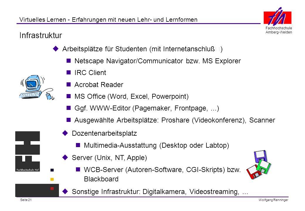 Infrastruktur Arbeitsplätze für Studenten (mit Internetanschluß)