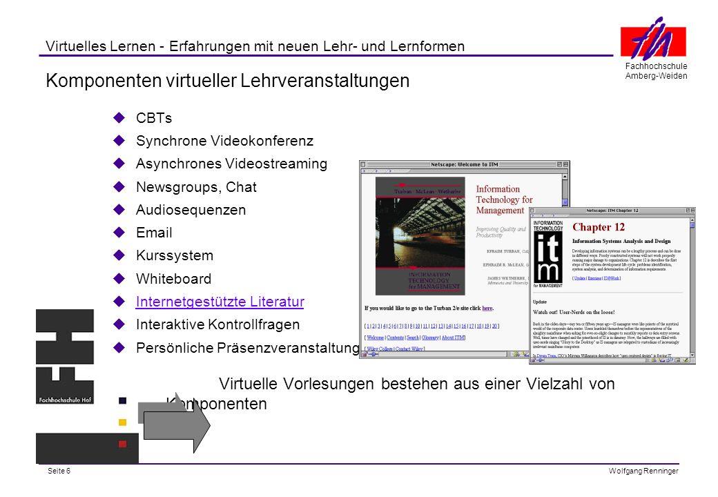 Komponenten virtueller Lehrveranstaltungen